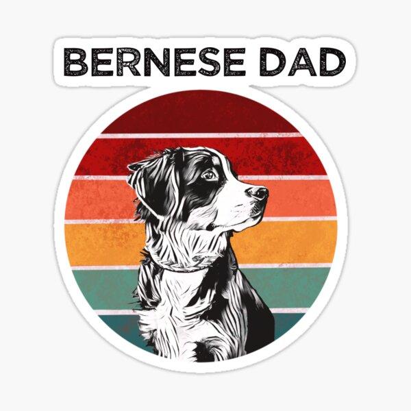 Retro Bernese Dad Sticker