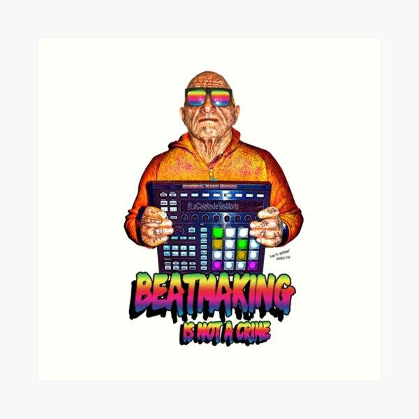 Beatmaking Is Not a Crime - Beatmaking Series by Hannibal FLYNT Art Print