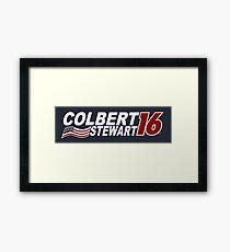 Colbert & Stewart 2016 Election Framed Print