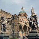 Statues of the Santa Maria Assunta - Palermo Cathedral  by Lucinda Walter