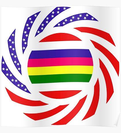 Korean American Multinational Patriot Flag Series 2.0 Poster