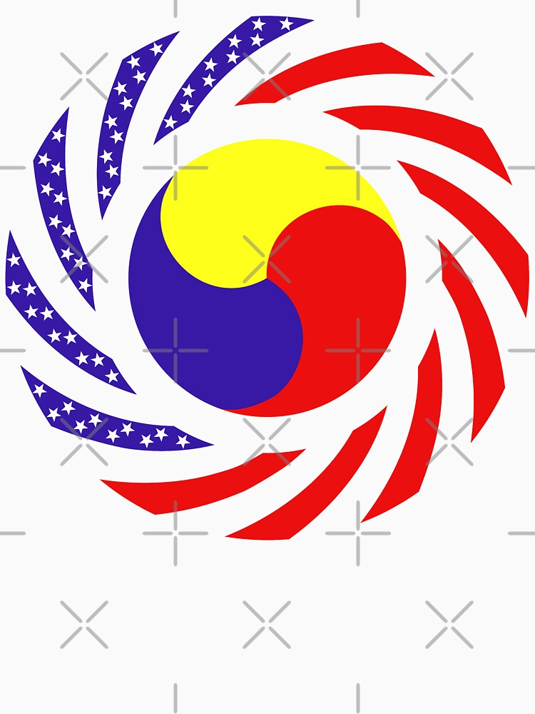 Korean American Multinational Patriot Flag Series 3.0 by carbonfibreme