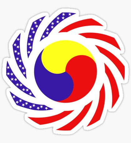 Korean American Multinational Patriot Flag Series 3.0 Sticker