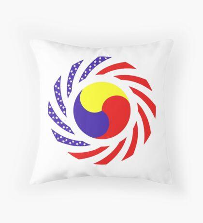 Korean American Multinational Patriot Flag Series 3.0 Throw Pillow
