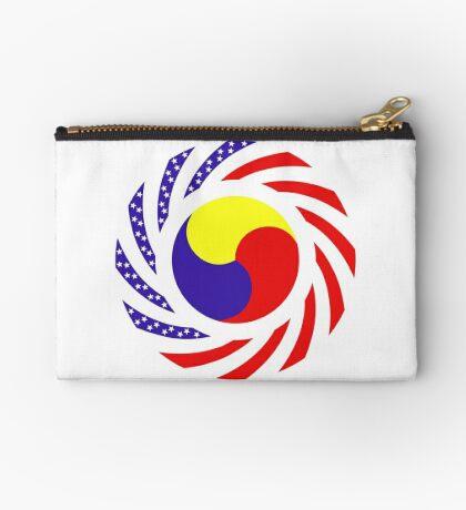 Korean American Multinational Patriot Flag Series 3.0 Zipper Pouch