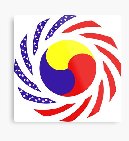 Korean American Multinational Patriot Flag Series 3.0 Metal Print