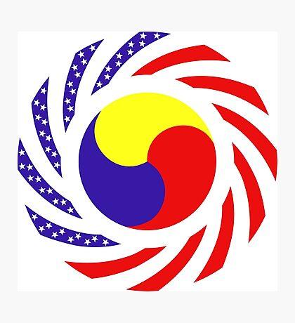 Korean American Multinational Patriot Flag Series 3.0 Photographic Print