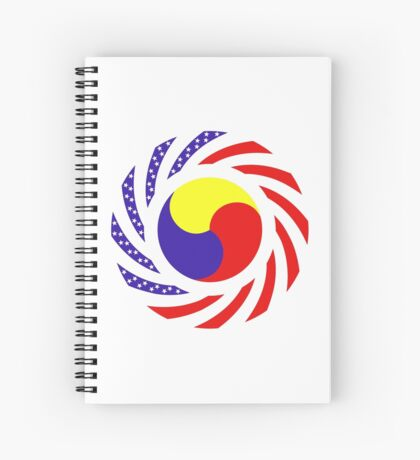 Korean American Multinational Patriot Flag Series 3.0 Spiral Notebook