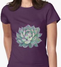 Succulent plant Women's Fitted T-Shirt