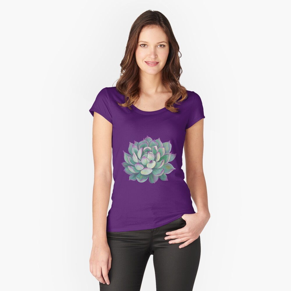 Succulent plant Women's Fitted Scoop T-Shirt Front