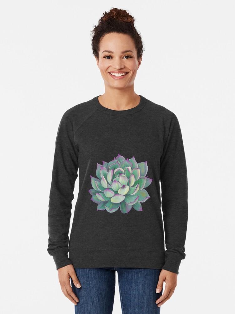 Alternate view of Succulent plant Lightweight Sweatshirt