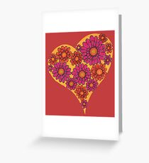 Gerbera Heart Greeting Card