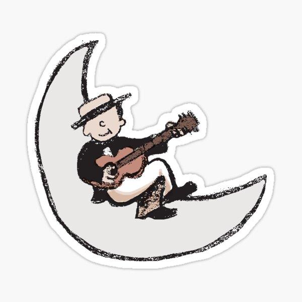 Moon Croon Sticker