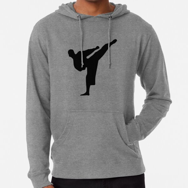 Karate silhouette Lightweight Hoodie