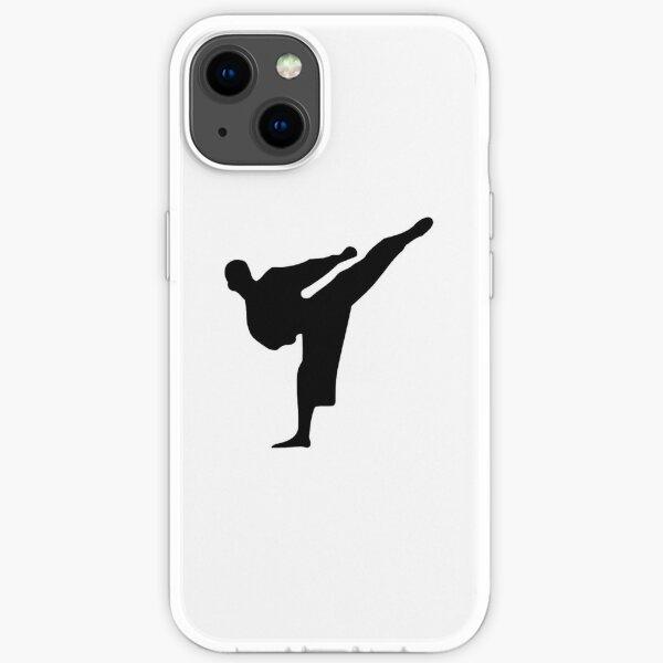 Karate silhouette iPhone Soft Case