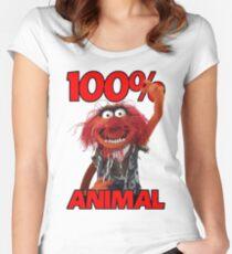 Muppets 100 Animal oder Geburtstagsgeschenk Women's Fitted Scoop T-Shirt
