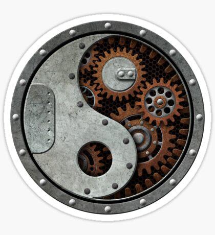 Industrielles Steampunk Yin Yang Sticker