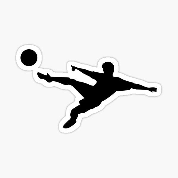 Soccer horizontal shot silhouette Sticker