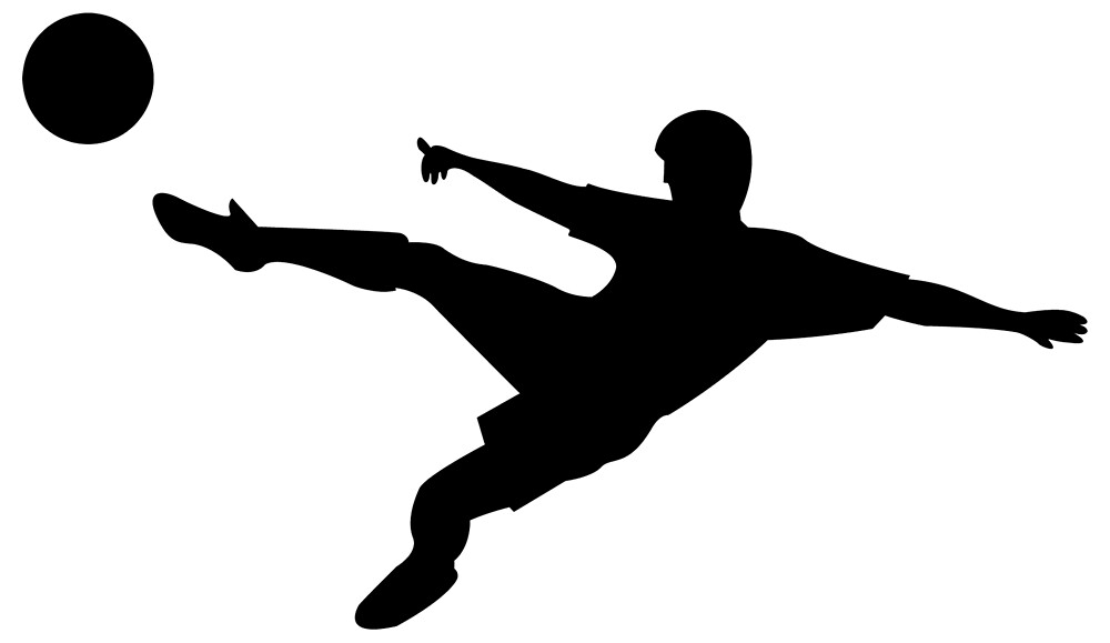 Soccer Player Silhouette Images amp Stock Pictures Royalty