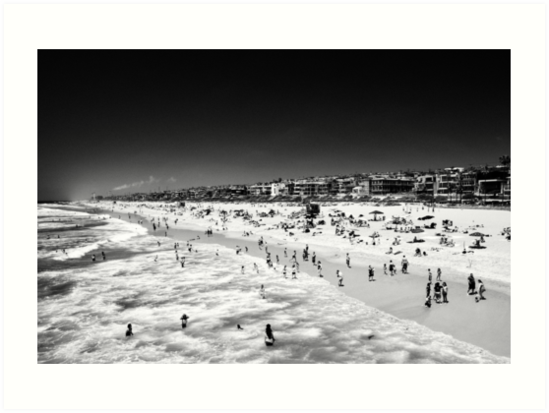 Swimming Manhattan Beach - California USA by Norman Repacholi