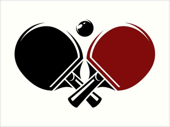 Table Tennis Logos Design Art Print By Lovingangela