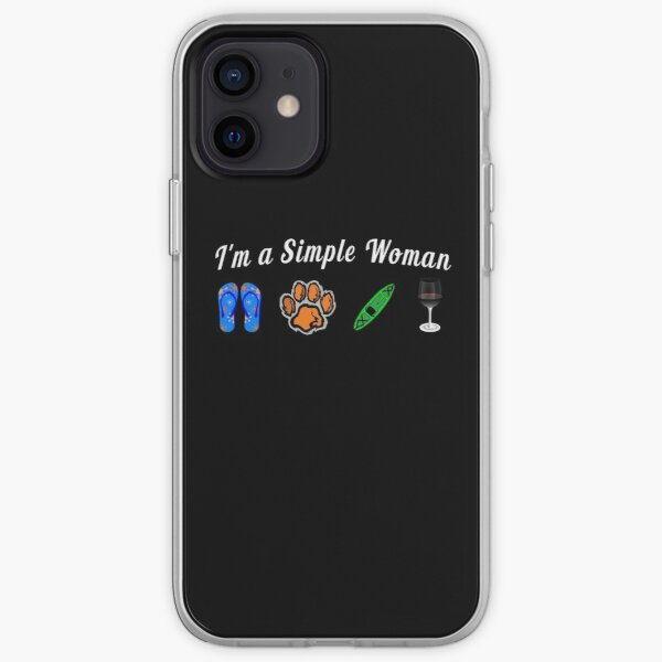 I'm a Simple Woman who loves Kayaking with Dogs iPhone Soft Case
