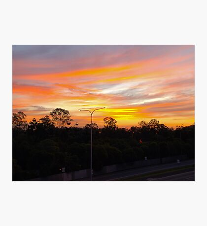 The Skys on Fire Photographic Print