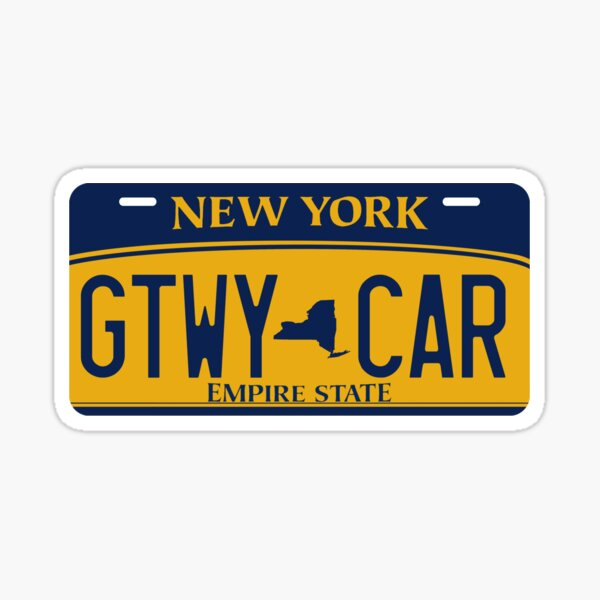 Getaway Car License Plate Sticker