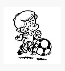 Soccer player cartoon Photographic Print