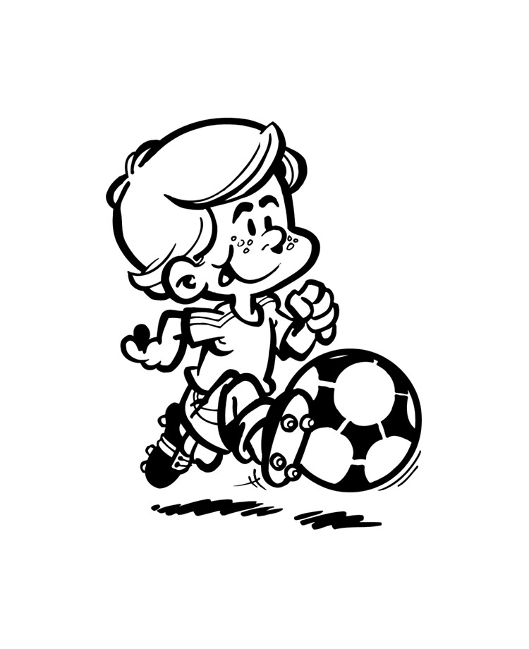 The Best Soccer Player Cartoon Drawing PNG