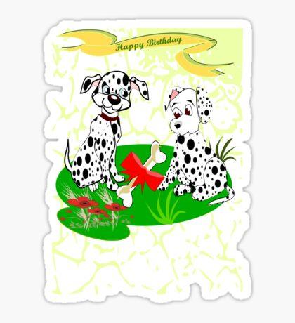 Spotty's  Birthday (8645 Views) Sticker