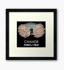 Change point of view Framed Print