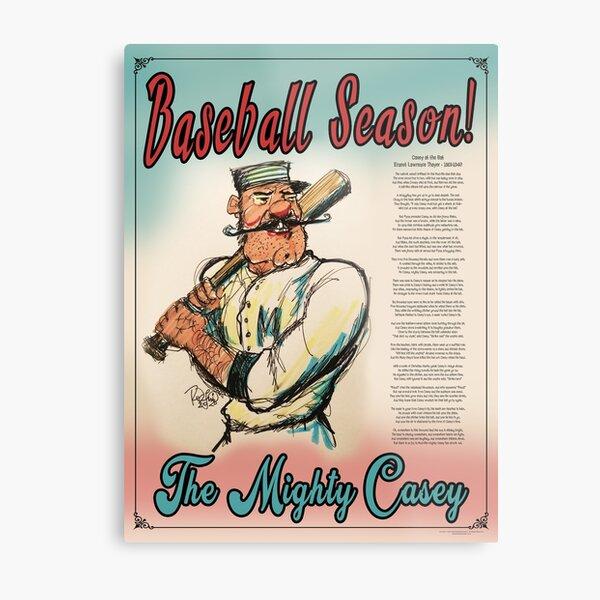 Baseball Season! The Mighty Casey Metal Print