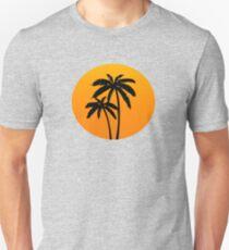 Palm Trees Sunset Unisex T-Shirt
