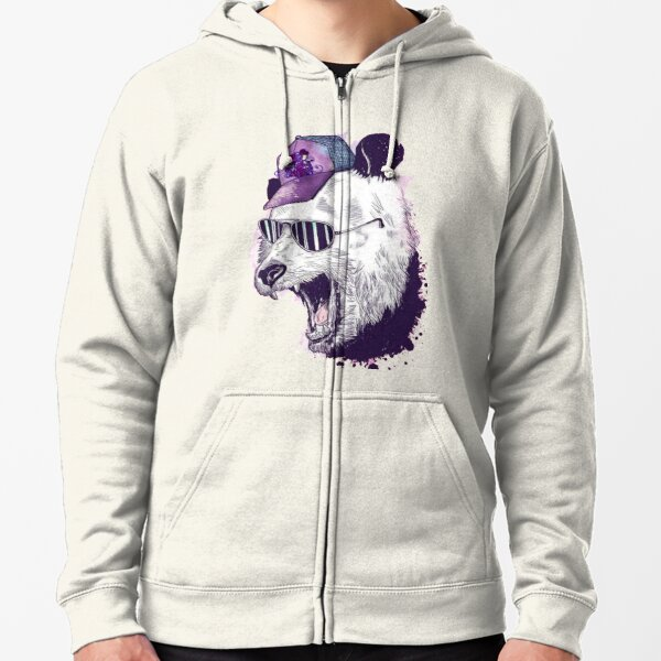 ornamental pattern with purple color Zipped Hoodie