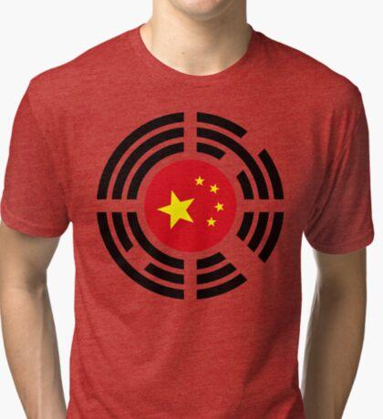 Korean Chinese Multinational Patriot Flag Series Tri-blend T-Shirt