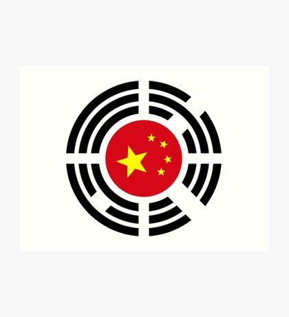 Korean Chinese Multinational Patriot Flag Series Art Print