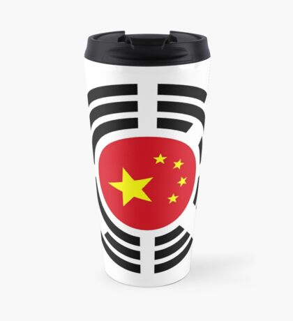Korean Chinese Multinational Patriot Flag Series Travel Mug