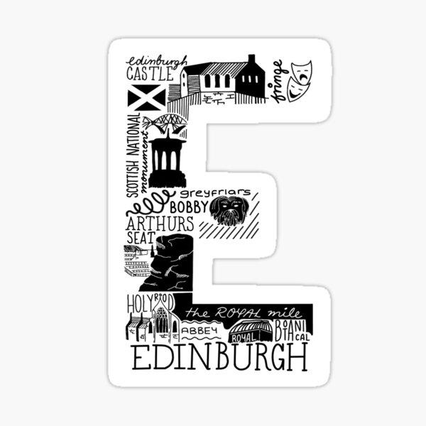 Edinburgh, Scotland- Summarised in a sticker Sticker