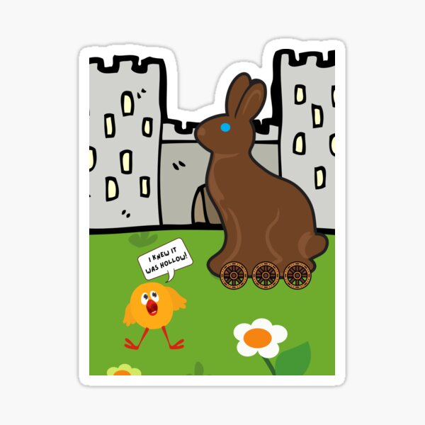 Trojan Bunny Sticker