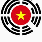 Korean Vietnamese Multinational Patriot Flag Series by Carbon-Fibre Media