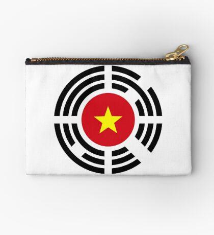 Korean Vietnamese Multinational Patriot Flag Series Zipper Pouch