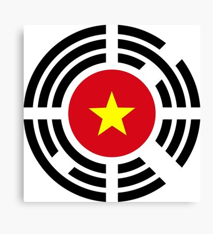 Korean Vietnamese Multinational Patriot Flag Series Canvas Print