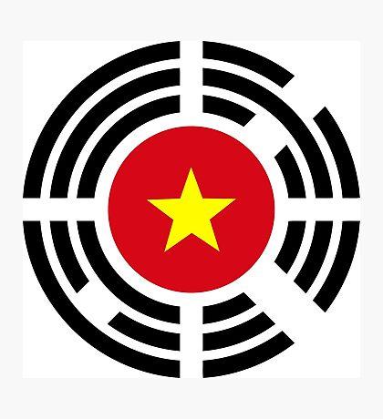 Korean Vietnamese Multinational Patriot Flag Series Photographic Print