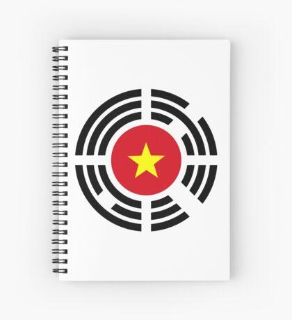 Korean Vietnamese Multinational Patriot Flag Series Spiral Notebook