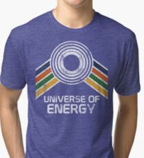 Universe of Energy Logo in Vintage Distressed Style Tri-blend T-Shirt