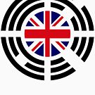 Korean Brit Multinational Patriot Flag Series by Carbon-Fibre Media