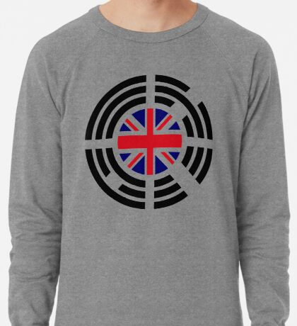 Korean Brit Multinational Patriot Flag Series Lightweight Sweatshirt