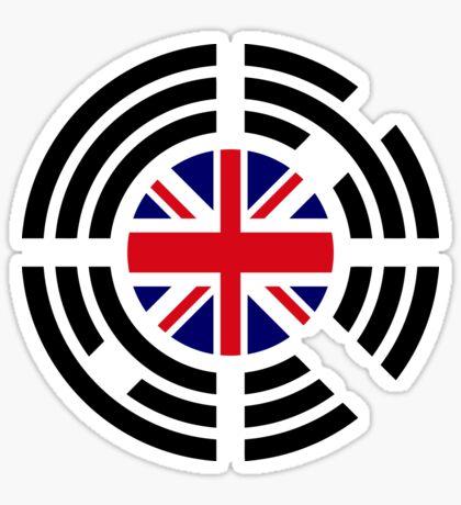 Korean Brit Multinational Patriot Flag Series Sticker