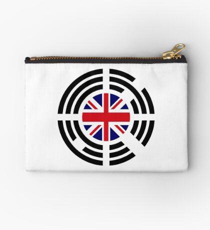 Korean Brit Multinational Patriot Flag Series Zipper Pouch